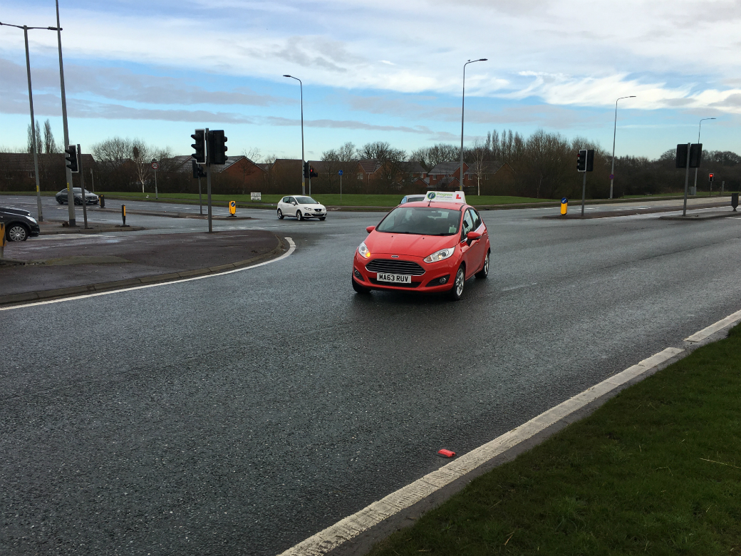 Progress Driving School car on East Lancs road in Lowton Golborne