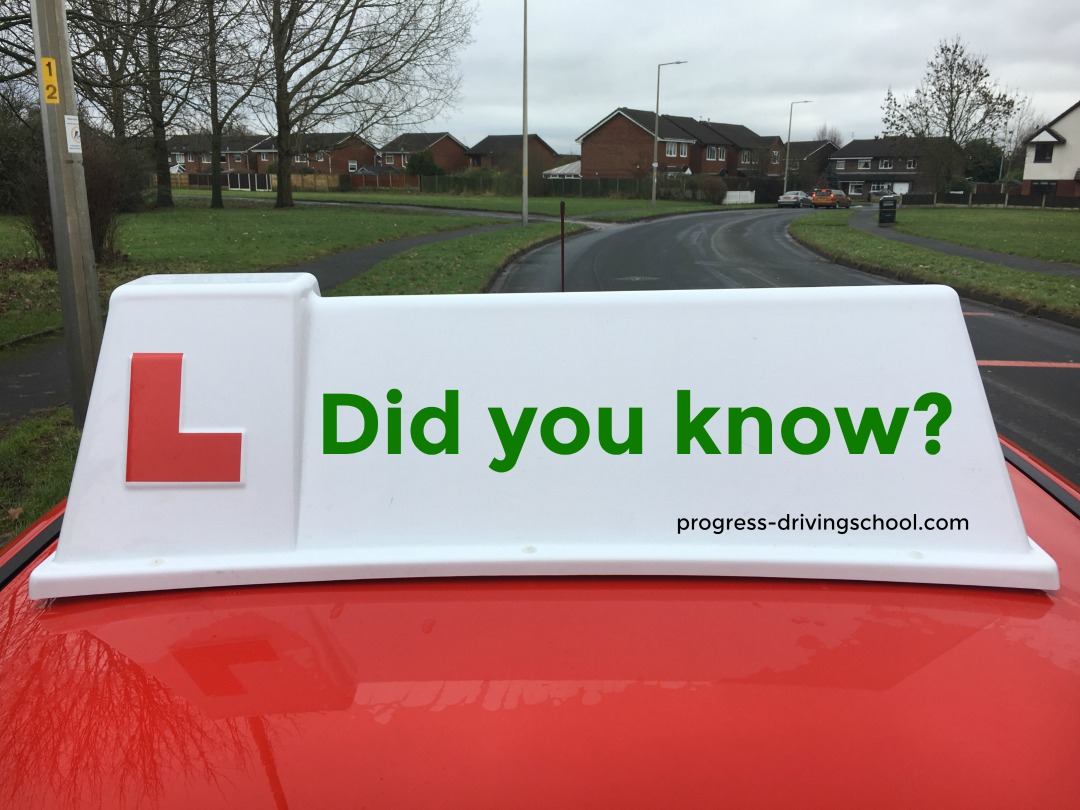 learner driver roofbox says Did You Know?