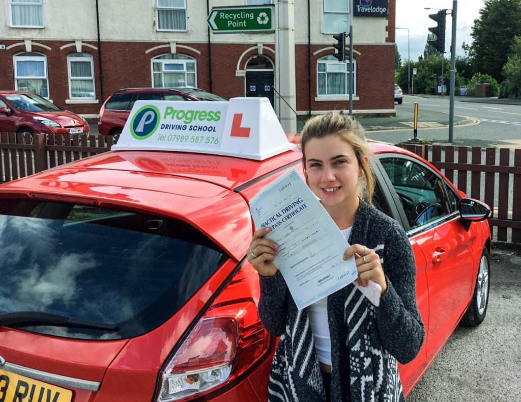 Lauren White passed with Progress Driving School