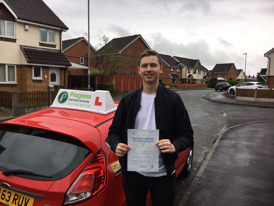 Jack Dooney passed his driving test with Progress Driving School