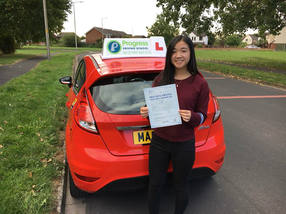 Louise from Lowton passed her driving test first time with Progress Driving School.