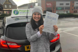 Carly passed her driving test with Progress Driving School