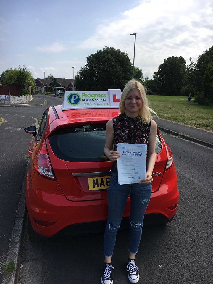 Emily passed with zero driver faults with Progress Driving School