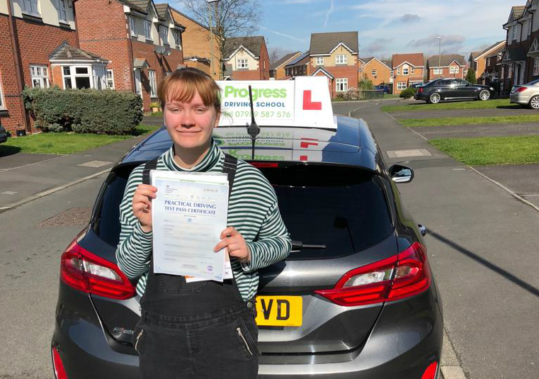 A self-confessed anxious driver, Fiona performed brilliantly to pass her test with just six driver faults in March, 2019.