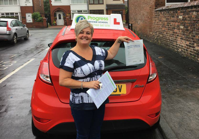 Jane passed her driving test with Progress Driving School