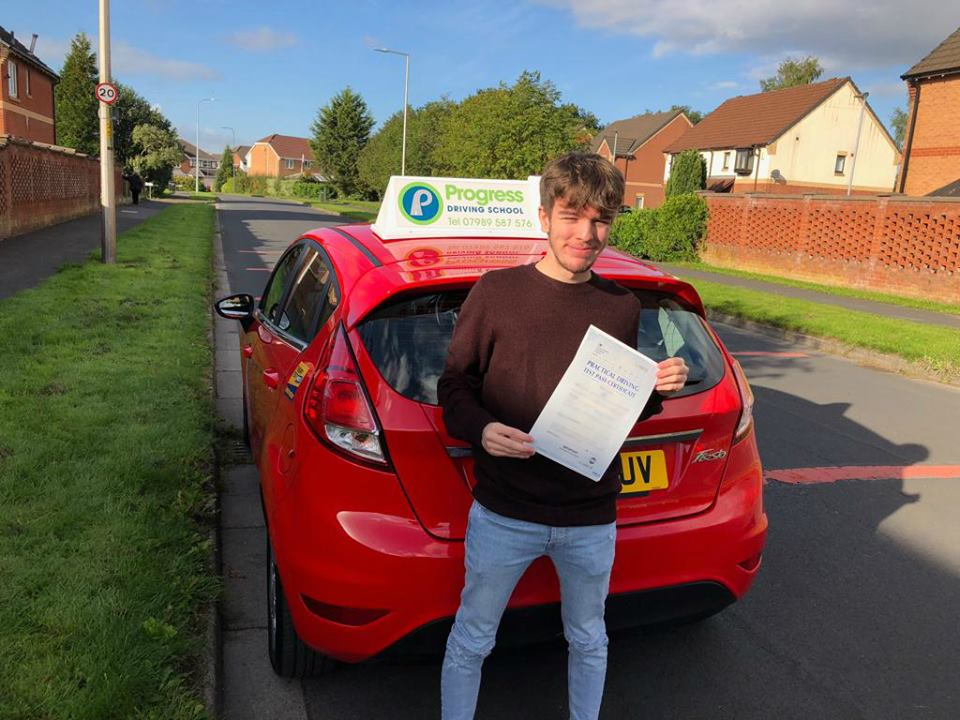Ryan from Lowton passed his driving test with Progress Driving School