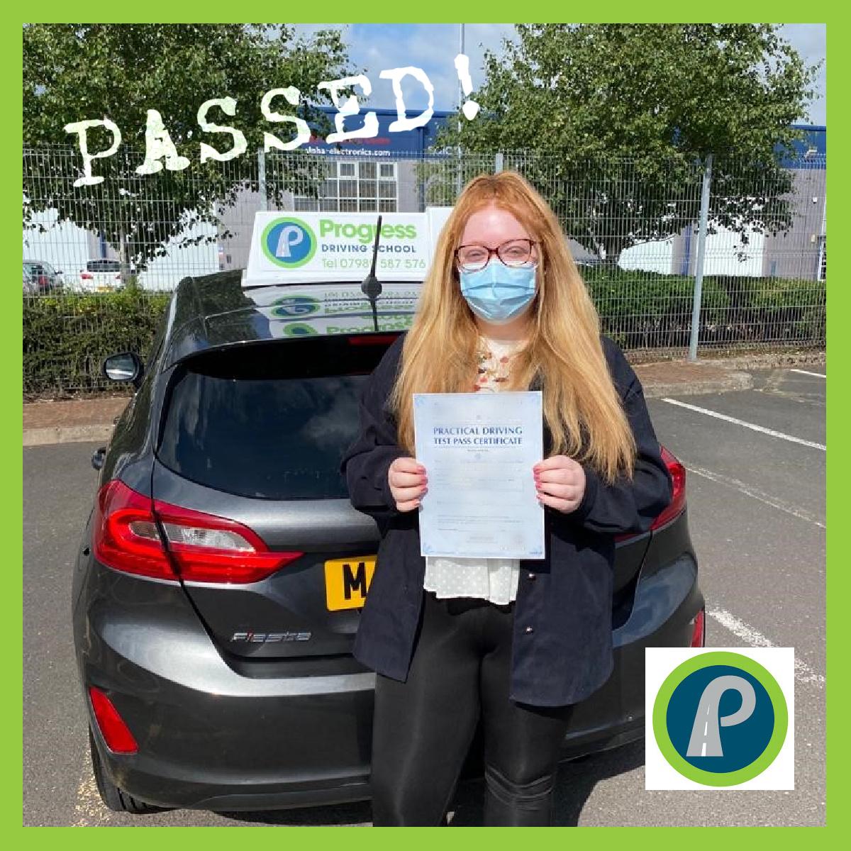 Beth passed with Progress Driving School