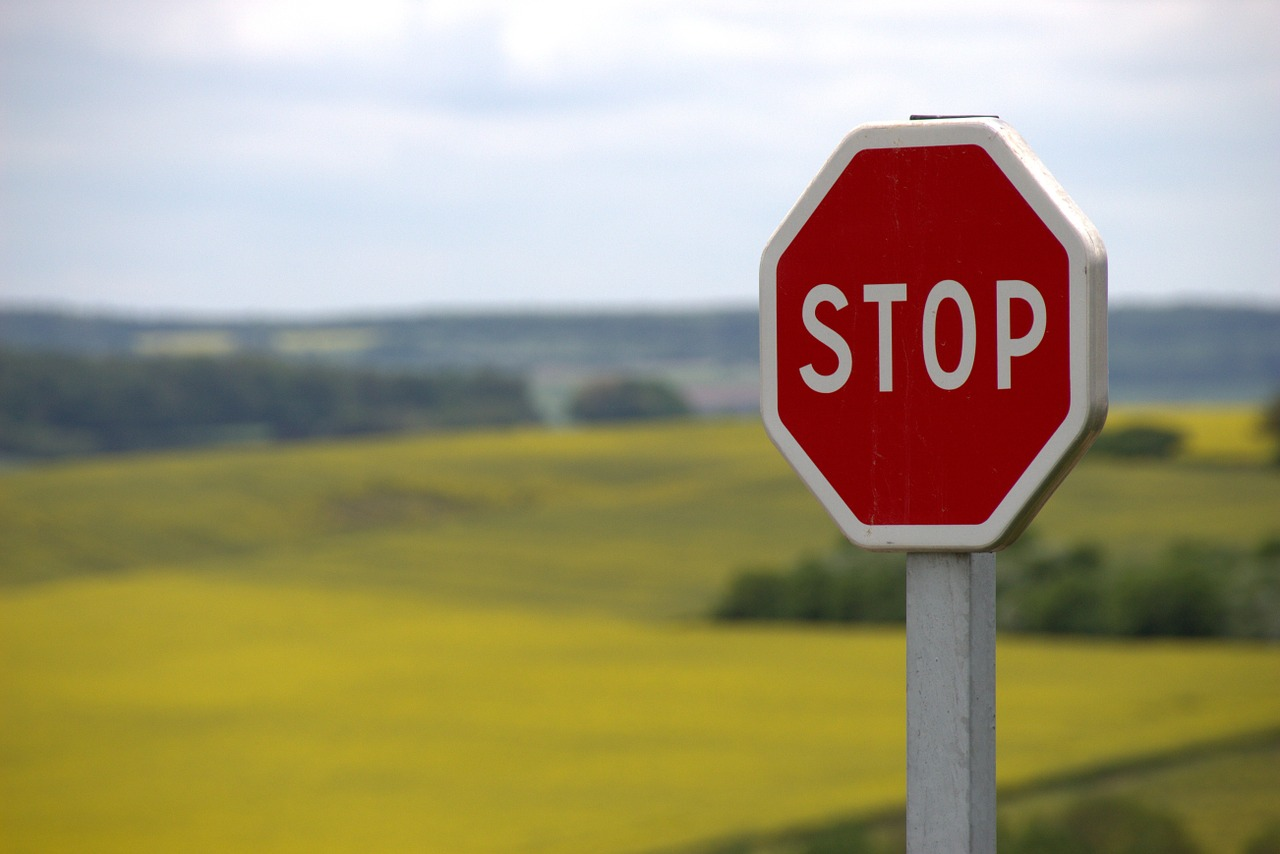 stop sign in countryside