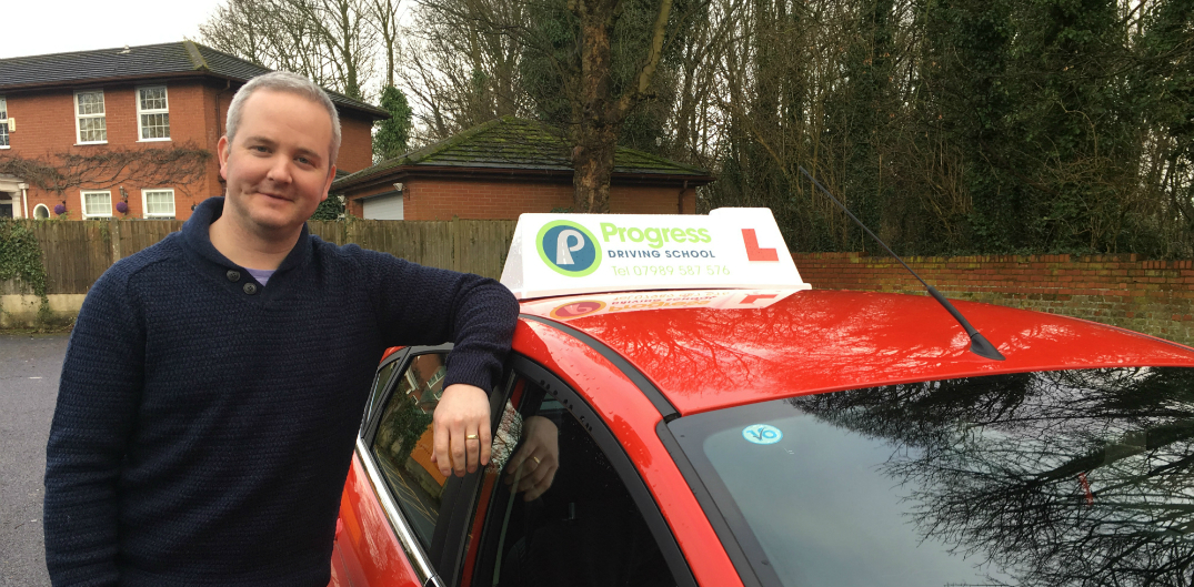 Tony approved driving instructor with Progress Driving School