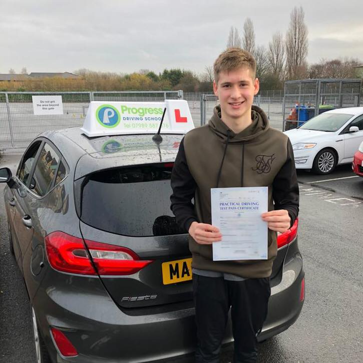 William from Croft passed with Progress Driving School