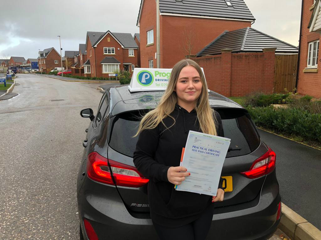 Ruby from Lowton passed her driving test with Progress Driving School