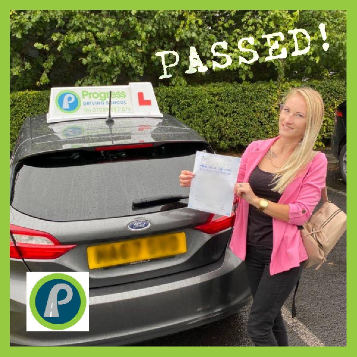 Aurelija from Golborne passed her driving test with Progress Driving School - despite her learning being interrupted by the national lockdown in 2020.