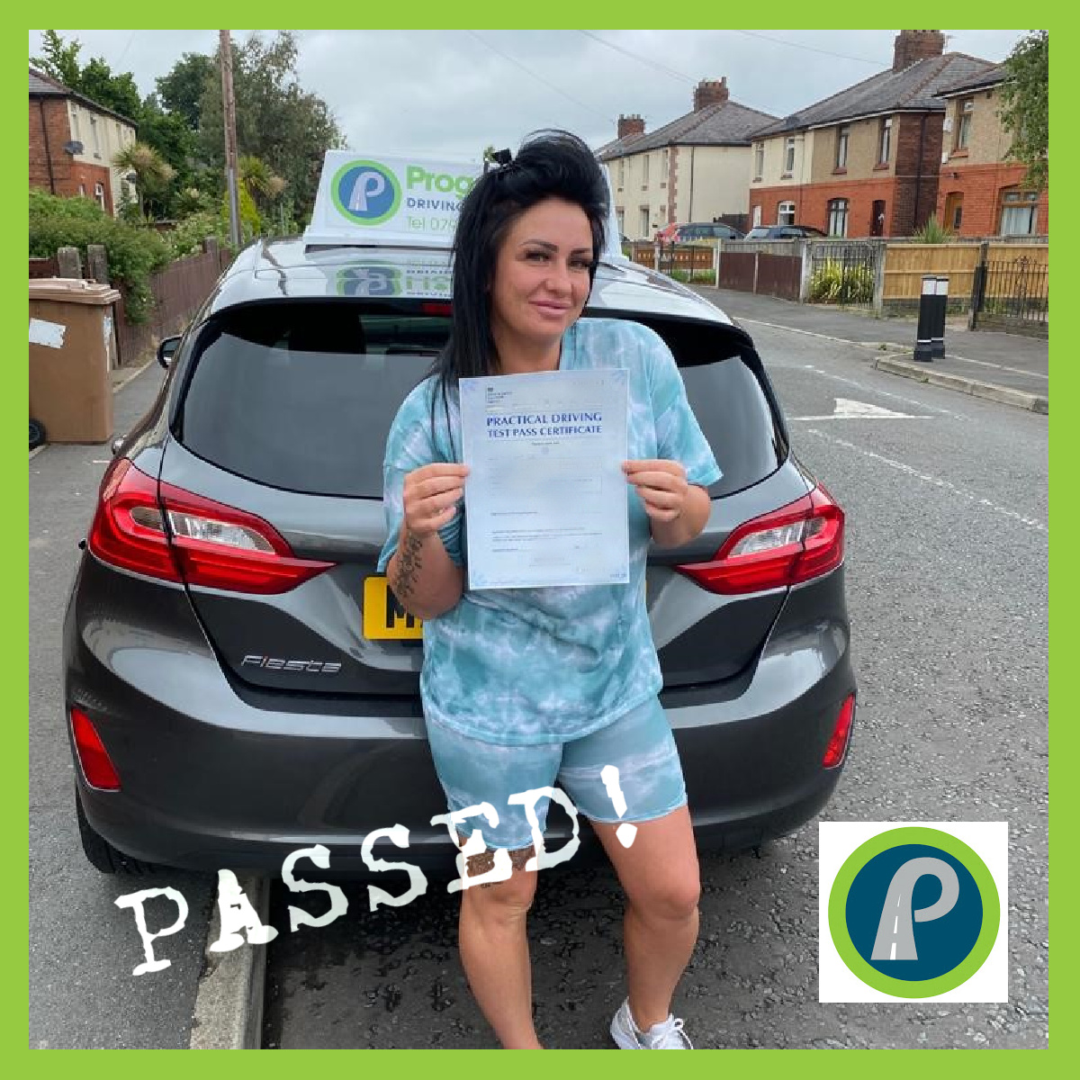 Amy passed her driving test with Progress Driving School