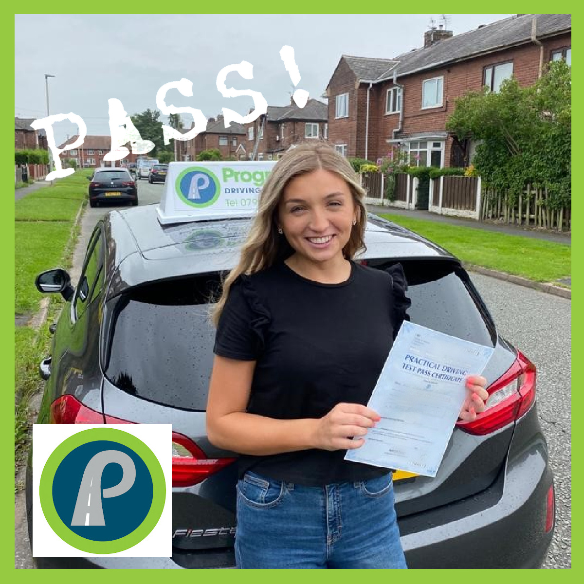 Zara passed her driving test with Progress